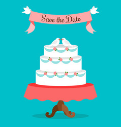 Save the date greeting card template vector
