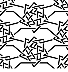 Seamless Black wicker ornament on a white vector image vector image