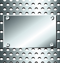 Seamless stainless grid with bolted plate vector