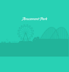 Silhouette of amusement park landscape vector