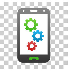 Smartphone apps gears gradient icon vector
