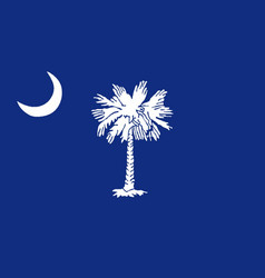 south carolina state flag vector image vector image