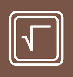 Square root symbol vector