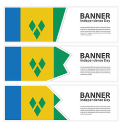 St vincent amp the grenadines flag banners vector