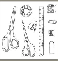 Stationery art materials vector