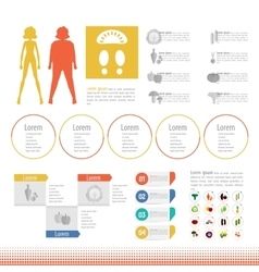 Thick slim body set icon info graphic vector
