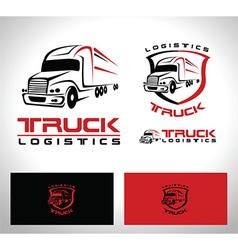 Truck trailer logo vector