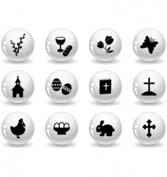 web buttons easter icons vector image