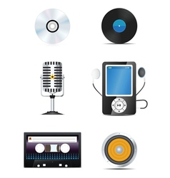 audio icons vector image