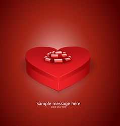 Heart box vector