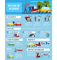 Road Accidents Infographic Set vector image