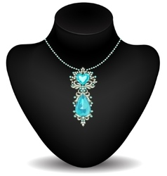 Mannequin and necklace vector