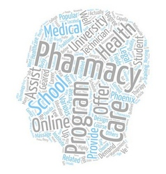 Pharmacy schools the short list text background vector
