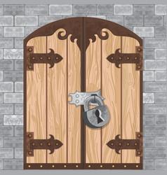 castle gate vector image