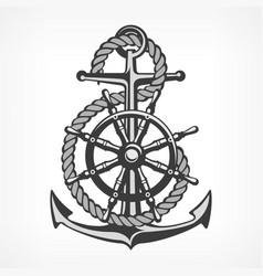 Anchor with rope and steering vector