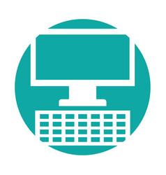 Monitor computer desktop isolated icon vector