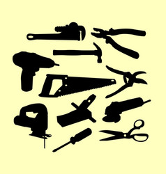 Service tools silhouette vector