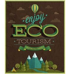 Eco tourism vector