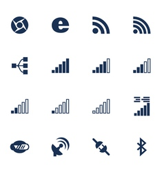 Connetion icons vector
