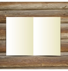 Design template white blank magazine on the wooden vector