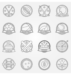 Sport labels vector