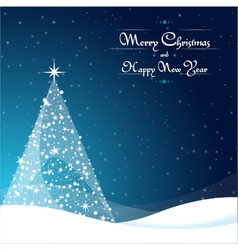 Christmas background landscape vector