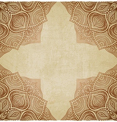 Brown corner pattern old background vector