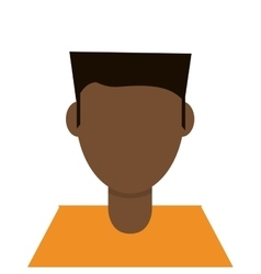 Man with orange tshirt vector