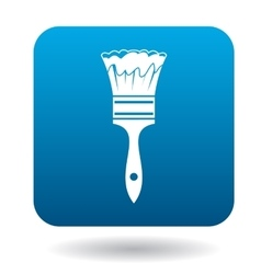 Paint brush icon in simple style vector