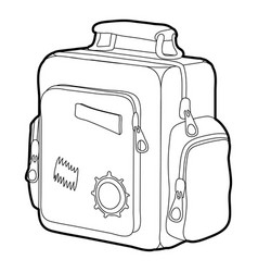 Boy school bag icon outline vector