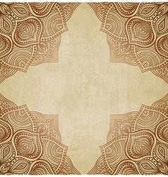 Brown corner pattern old background vector
