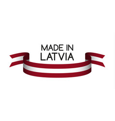 colored ribbon with the latvian colors vector image