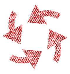 Cyclone arrows fabric textured icon vector