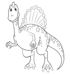 doodle animal character for dinosaur vector image vector image
