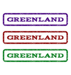 Greenland watermark stamp vector
