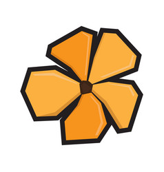 isolated geometric flower vector image