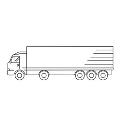 line art transport icon - vector image