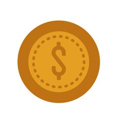 Money coin icon vector