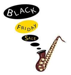 Musical Bass Saxophone Playing Black Friday Sale vector image vector image