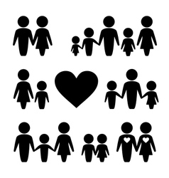 People Family icons set vector image vector image