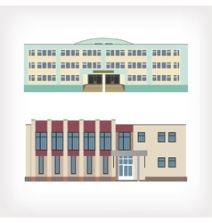 Set of two of buildings vector