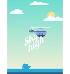 Sky high vector