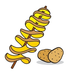Spiral potato vector