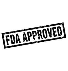 Square grunge black fda approved stamp vector