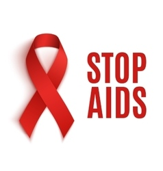 Stop aids background vector