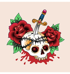 tattoo dead love vector image vector image