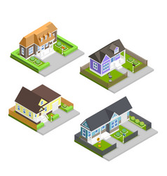 town houses composition vector image vector image