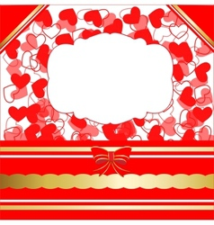 Valentines day greeting card with hearts and lacy vector image vector image