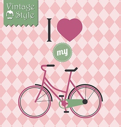 Vintage hipster bicycle background vector