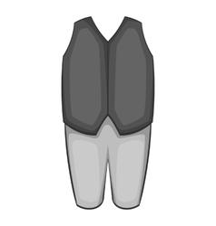 Waiter costume icon gray monochrome style vector image